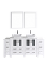 "Image of Bosconi AW224S2S 72"" White Double Vanity"