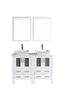 "Image of Bosconi AW224S 48"" White Double Vanity"