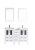 "Image of Bosconi AW224U1S 60"" White Double Vanity"