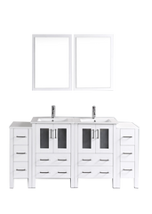 "Bosconi AW224U2S 72"" White Double Vanity"