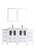 "Image of Bosconi AW224U2S 72"" White Double Vanity"