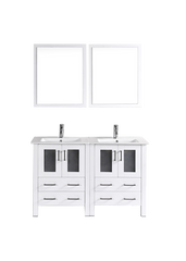 "Bosconi AW224U 48"" White Double Vanity"