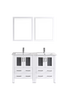 "Image of Bosconi AW224U 48"" White Double Vanity"