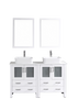 "Image of Bosconi AW230RC 60"" White Double Vanity"