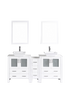 "Image of Bosconi AW230S1S 72"" White Double Vanity"