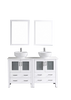 "Image of Bosconi AW230S 60"" White Double Vanity"