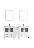 "Image of Bosconi AW230U1S 72"" White Double Vanity"