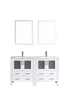 "Image of Bosconi AW230U 60"" White Double Vanity"