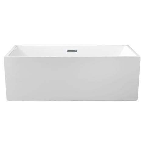 66″ Soaking Freestanding Tub With Internal Drain