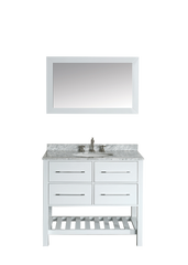 "Bosconi SB-250-3WH 36"" Contemporary Single Vanity"