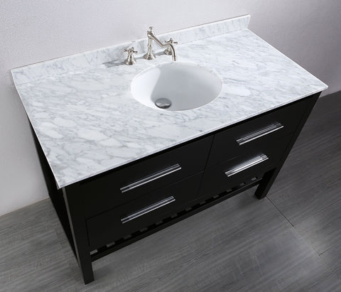 "Bosconi SB-250-4 47"" Contemporary Single Vanity"