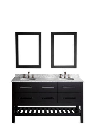 "Bosconi SB-250-5 60"" Contemporary Double Vanity"