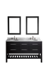 "Image of Bosconi SB-250-5 60"" Contemporary Double Vanity"