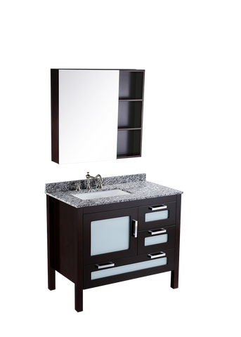 "Bosconi SB-251-1 37"" Contemporary Single Vanity"