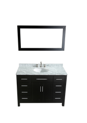 "Bosconi SB-252-3 47"" Contemporary Single Vanity"