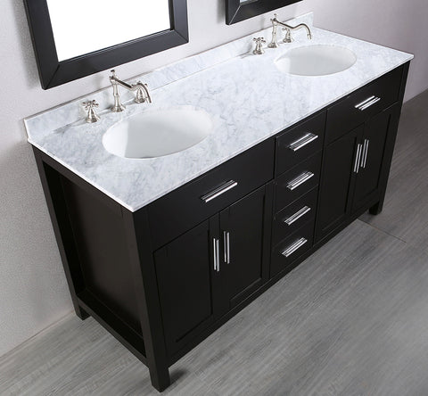 "Bosconi SB-252-4 60"" Contemporary Double Vanity"