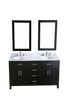 "Image of Bosconi SB-252-4 60"" Contemporary Double Vanity"