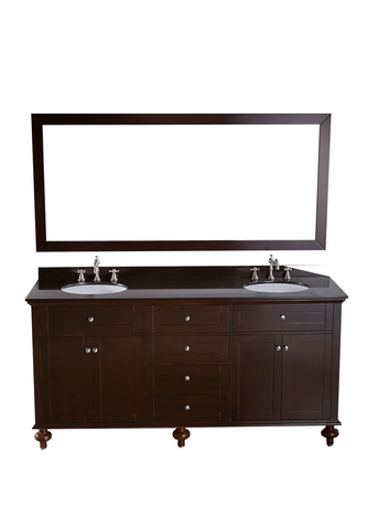 "Bosconi SB-261 73"" Contemporary Double Vanity"