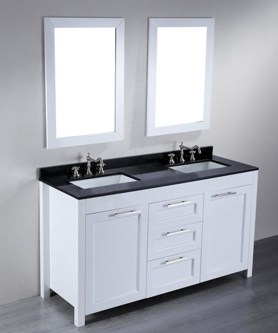 "Bosconi SB-267 60"" Contemporary Double Vanity"