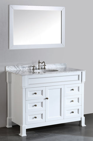 Bosconi SB-278WH 43'' Contemporary Single Vanity