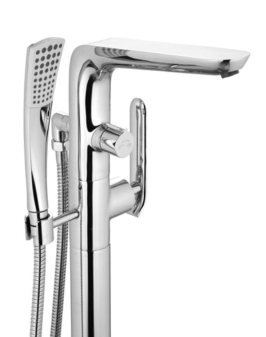 Freestanding Polished Chrome Bathtub Faucet with Showerhead H-120