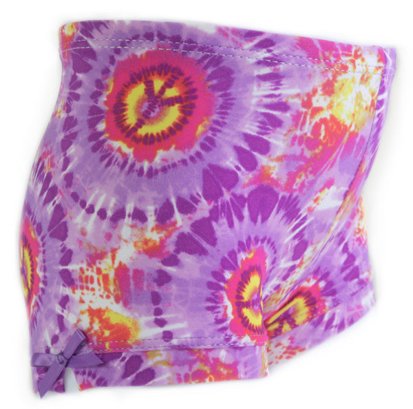 Purple Peace Girls Spandex Shorts