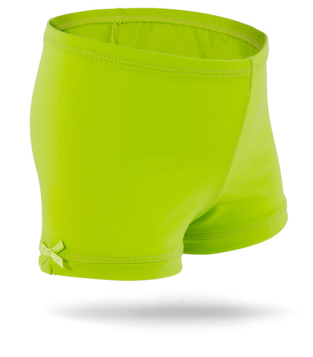 Forest Green Girls Spandex Shorts