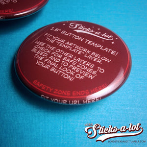 Glossy Round Pinback Buttons