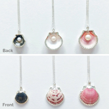 Back & Front of Pearl Necklaces