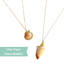 Make your own custom seashell jewelry