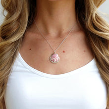 Pink Seashell Necklace Handcrafted