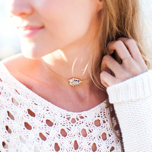 White Seashell Choker