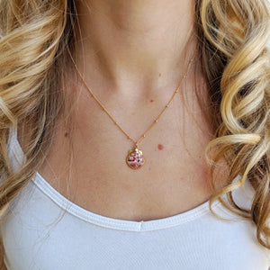 Pink Inspire Seashell Necklace