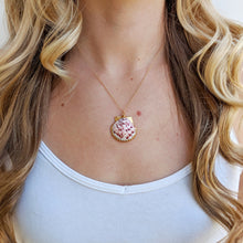 Pink Shiny Seashell Necklace