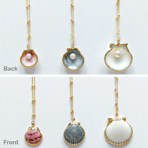 Back & Front of Pearl Necklace