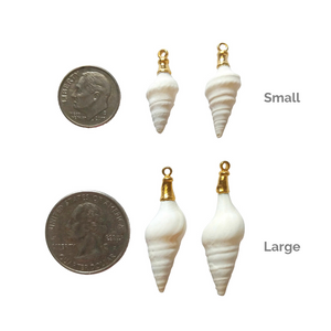 Size of Preserve White Earrings