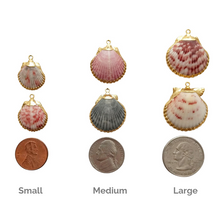 Types of sizes in seashell pendants handcrafted