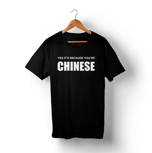 YES IT'S BECAUSE YOU'RE CHINESE T-Shirt