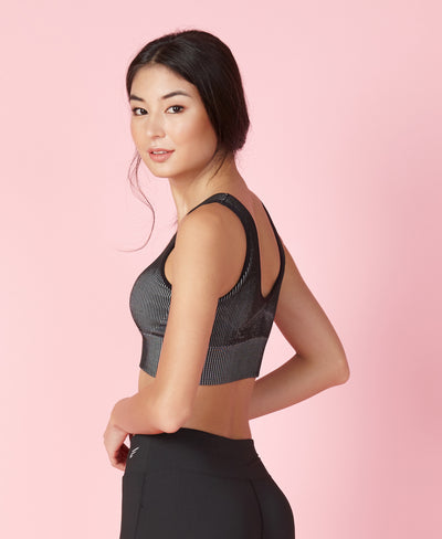 Ribbed Mono Linear Sports Bra