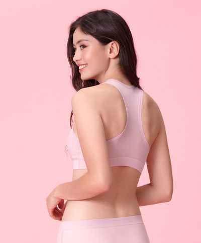 "NEW! Next-To-Skin Seam Free Racerback Bralette <br><font size=""3"" color=""#F08080"">2nd pcs at 50% off</font>"