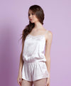 NEW! Luxe Boudoir Satin Slip-On Romper