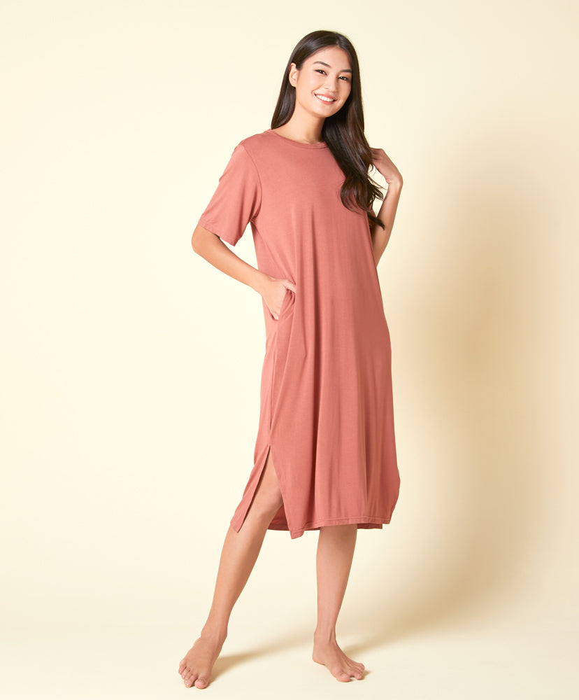 "NEW! Bathleisure Midi dress with pockets <br><font size=""3"" color=""#F08080"">30% off</font>"
