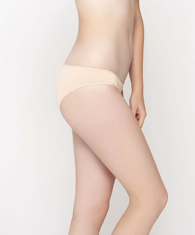 Ivory Moon Microfibre Low-Rise Mini with V-Back Panty
