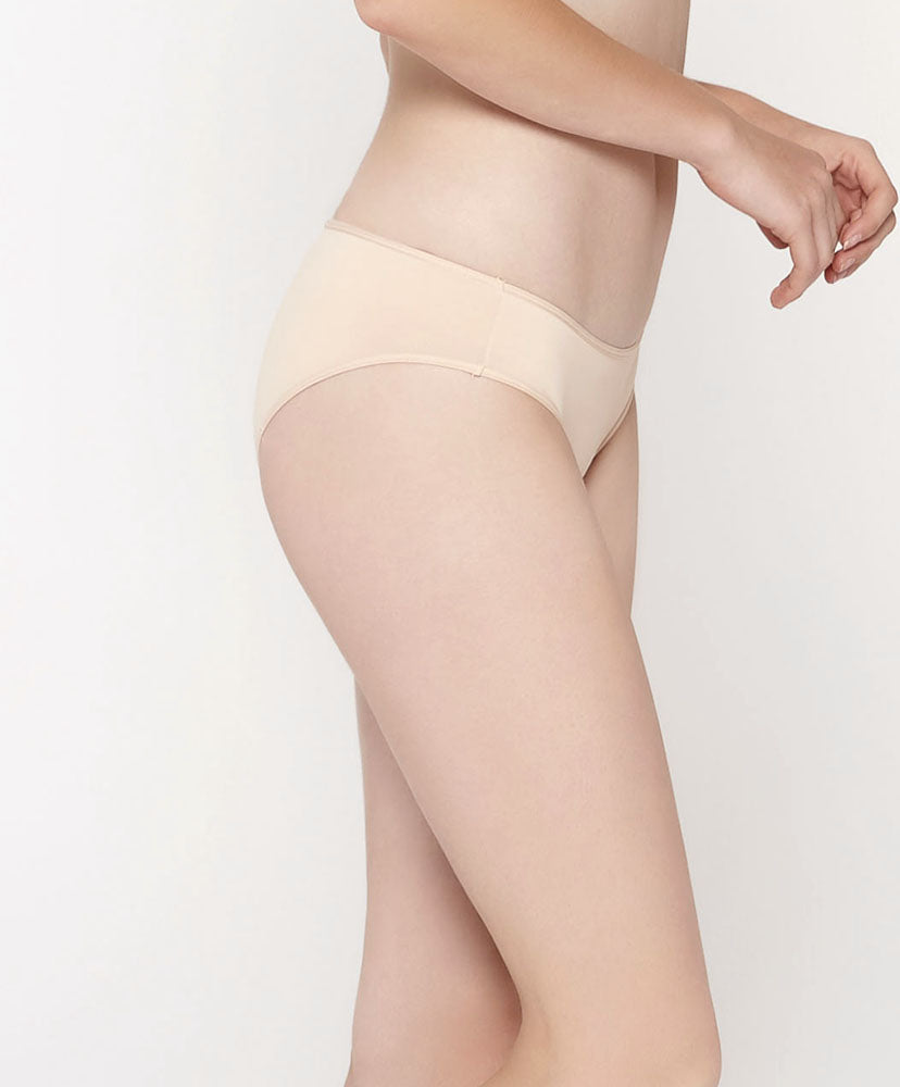 Ivory Moon Cut & Sew Microfiber Midi with V-Back Panties<br><b> Buy 3 get 1 free, Buy 5 get 2 free </b>