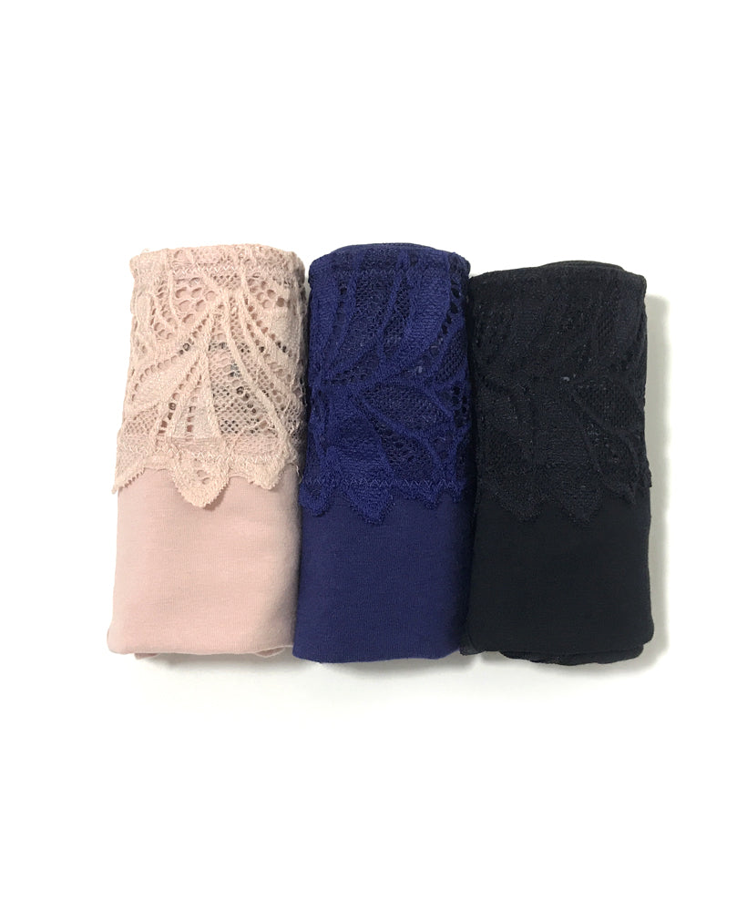 Soft Lace Cotton Packaging Panties - Midi