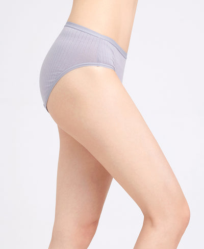 NEW! Modern Greys Comfort Cotton Packaging Panties - Midi