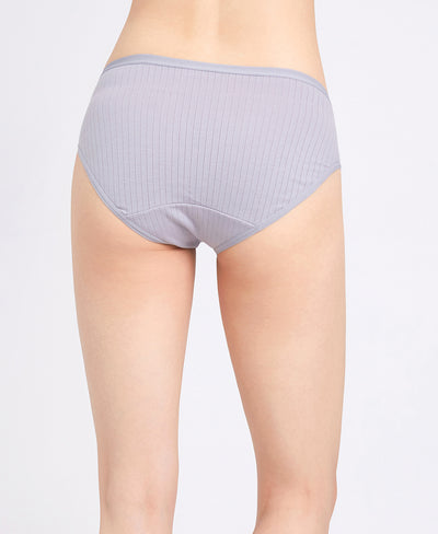 "NEW! Modern Greys Comfort Cotton Packaging Panties - Midi <br><font size=""3"" color=""#F08080"">30% off</font>"