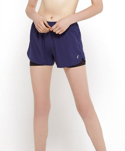 Moisture Wicking Shorts With Inner Shorts