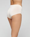 Abstract Microfibre & Lace Midi Panty