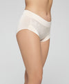 Abstract Microfibre & Lace Highwaist Midi Panty<br><b> Buy 3 get 1 free, Buy 5 get 2 free </b>